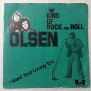 Singleplade Olsen, King of Rock and Roll