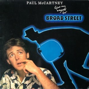 LP Paul McCartney Give my regards to Broad Street